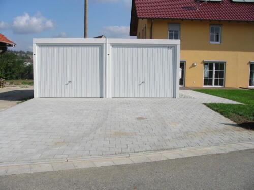 Garagenzufahrt, Garagenfundamente