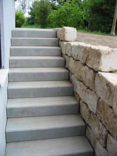 Betonblockstufentreppe