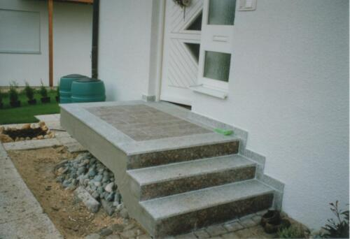 Treppe und Podestplatte
